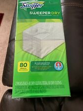 New Swiffer Sweeper Dry Cloth Refills Bigger 80 Count Box