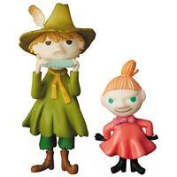 Medicom Toy UDF Moomin Series 1 Snufkin & Little My Figure from Japan