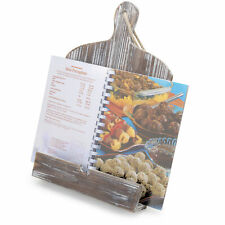 Rustic Farmhouse Torched Wood Cookbook iPad Holder with Kickstand
