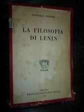 ANNIBALE PASTORE LA FILOSOFIA DI LENIN Milano Edizioni Giovanni Bolla 1946