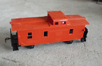 Vintage HO Scale Western Germany Red Caboose Car