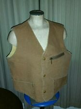 VINTAGE CARTERS CAN RVAS WOOL FLEECE LINED WORK VEST SHORT FARMER 42 HIPSTER