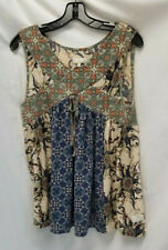 Odd Molly Anthropologie Multicolored Sleeveless top Sz 3/Large