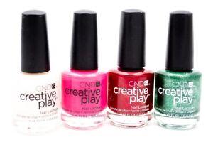 CND Creative Play Nail Lacquer set of 4: Bridechilla, Peony Ride, Crimson L