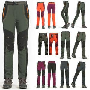 Women Hiking Sport Pant Fleece Lined Waterproof Trousers Outdoor Soft Shell
