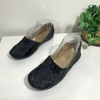 Chocolate Blu Ballet Flats Black Leether Comfort Shoe Womens Size 6 Cam2