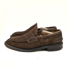 Trickers James Penny Loafer Town Shoe Brown Suede Size US: 8,5 / EUR: 41,5