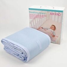 NEW  BREATHING SPACE AIR PAD BLUE SWEET DREAMS COT BUMPER MESH PROTECTOON BEDING