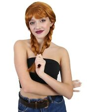 Anna Wig | Ginger Long Braided Character Cosplay Halloween Wig HW-044A