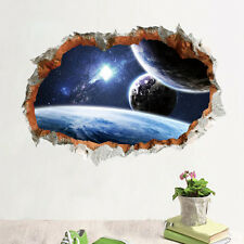 Galaxy Planet Space Wall Sticker For Kids Boys Bedroom Art Vinyl 3D Wall Decal