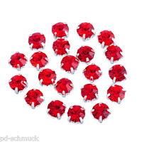PD: 50 Rot Strasssteine Preciosa Glaskristall Strass für Schmuck DIY 5x5mm