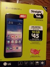 "STRAIGHT TALK LG REBEL 4 LTE ANDROID SMART PHONE 16 GB 8 MP/ 5 MP NEW 5"" SCREEN"