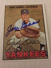 1967 Topps 375 Jake Gibbs Yankees Autographed Auto Signed Card