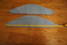 2 x blue curtain ties