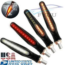 4*Flowing 24LED Bendable 12V Motorcycle ATV Turn Signal Lights DRL IP68