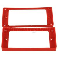 2Pcs Red Guitar Pickup Frame Mounting Ring For Electric Guitar
