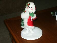 """1995 Annalee 9"""" Christmas Doll #4904 Nice Condition"""