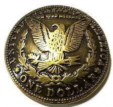 concho American silver dollar Gothic biker wallet screw snap gold