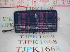 NWT COACH~Multicolor~Signature Tartan Accordion Zip Around Wallet F48116