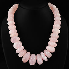 Untreated 269.50 Cts Natural Round Pink Rose Quartz /& Apatite Beads Necklace