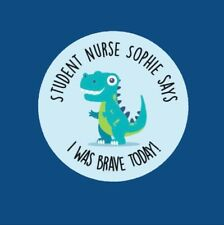 Personalised I Was Brave Today! 35x Bravery Doctor 30mm Well Done Stickers 373