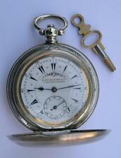 ANTIQUE BILLODES KEY WIND POCKET WATCH SWISS 1860's-OTTOMAN/TURKISH MARKET