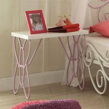 ACME Furniture Priya II Nightstand in White and Light PUrple