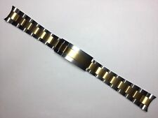 20MM SOLID TWO-TONE OYSTER BAND BRACELET FOR ROLEX SUBMARINER WITH GLIDE-LOCK
