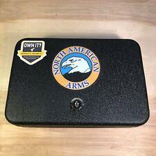 North American Arms Metal gun lock box safe storage 1 key FREE SHIP