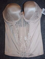 FREDERICKS OF HOLLYWOOD SCULPTING LACE CORSET Beige $68