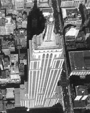 EMPIRE STATE BUILDING AERIAL, NEW YORK CITY 11x14 SILVER HALIDE PHOTO PRINT