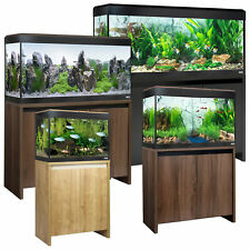 FLUVAL ROMA LED AQUARIUMS 90 125 200 240L OAK WALNUT BLACK NEW CABINET FISH TANK
