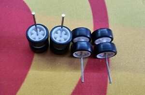 1/64 Rubber Wheels 2 set Pack Real Rider Hot Wheels Matchbox JDM Mazda Nissan b3