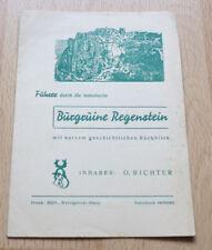 Prospekt - Führer durch die historische Burgruine Regenstein - um 1950