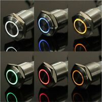 Type Car Dash Light Push Button LED Illuminated Lamp Switch Car Accessories