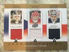 2013-14 Upper Deck Trilogy Hockey Star Spotlight Triple Jersey Dominik Hasek R30