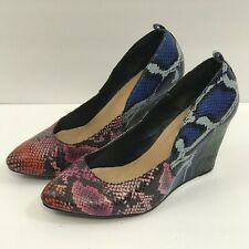 Torrid Womens Wedges Snakeskin Print Multicolor Red Green Blue Pink Size 8
