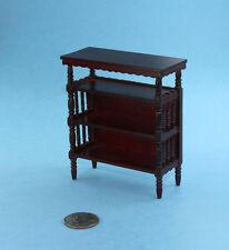 SALE! Dollhouse Miniature 1:12 Fancy Mahogany Bookcase/Shelving Unit  #SDF76909
