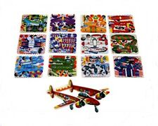 24 MINI AEROPLANE GLIDER 3D PUZZLES PARTY BAG FILLERS