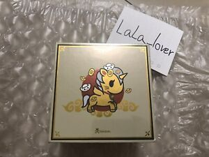 "In Hand Ready to Ship Tokidoki Lucky Cat Gold Maneki Unicorno 5"" Figure Limited"