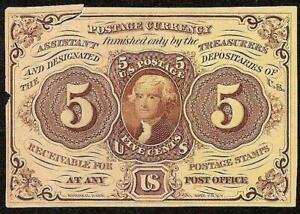 5 CENT FRACTIONAL NOTE POSTAGE CURRENCY 1862 1863 CIVIL WAR ERA MONEY Fr 1231