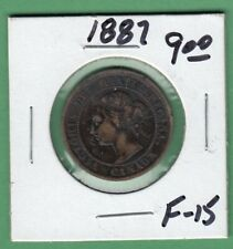 1887 Canadian Large One Cent Coin - F-15