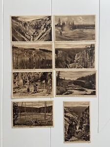 Haynes Yellowstone 500 Series Postcards Divided Back Firehole Pool ~ Set of 8