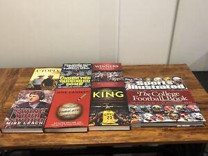 Lot of 7 Sports Books Hard Backs (College Football, MLB, Coaching, Golf, NBA)