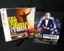 Taiwan Card + CD NEW Christina Aguilera PITBULL 2013 Feel This Moment liberation
