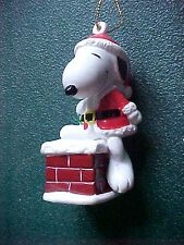 Peanuts Snoopy going down Chimney Christmas Ornament