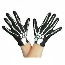 Skeleton Gloves, Fancy Dress Accessories, Halloween Parties, Theatre 22390/G
