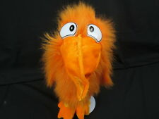 BIG WACKY ORANGE TOUCAN SOUND PARROT SHAGGY FUNNY PLUSH STUFFED ANIMAL TOY