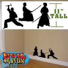 Samurai Wall Decals, Martial Arts stickers, Samurai martial Arts decal, samurai