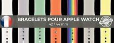 BRACELET POUR APPLE WATCH SERIE 1 2 3 4 5 6 - 42 / 44 MM NOMBREUX COLORIS